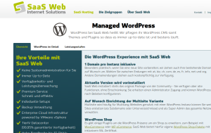 Screenshot WordPress managed by SaaS Web