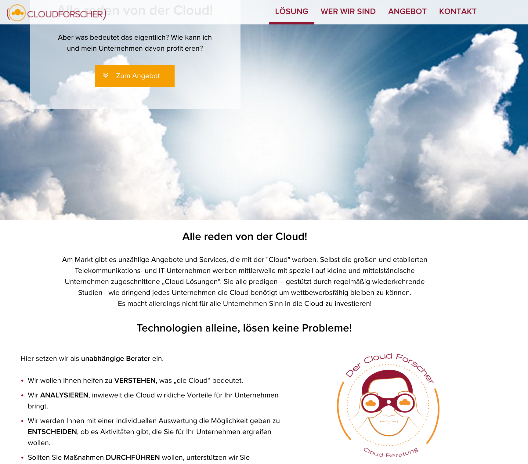 Cloudforscher Homepage