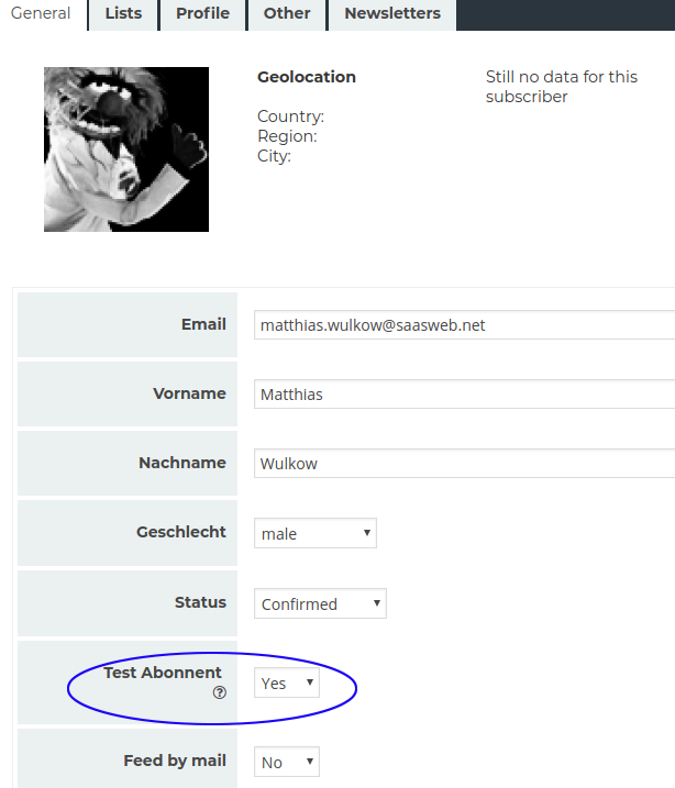 Newsletter Plugin - Subscriber details